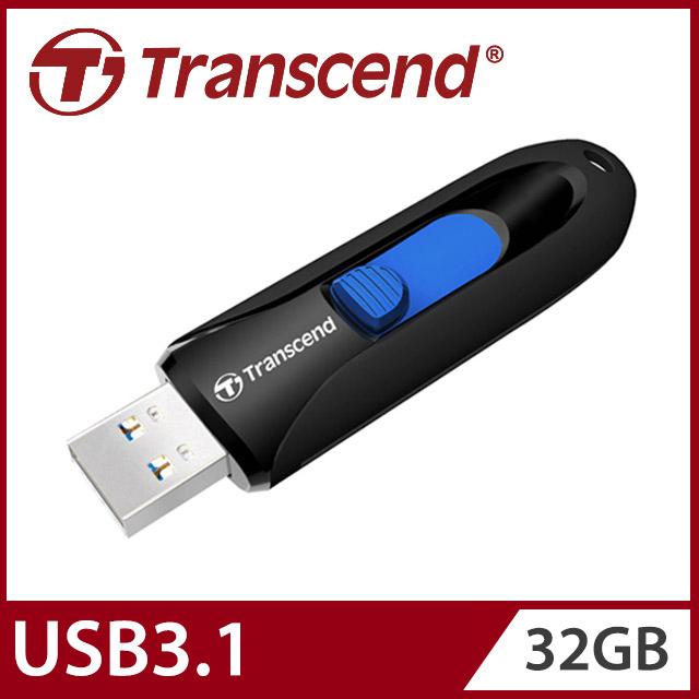 【Transcend 創見】32GB JetFlash790 USB3.1隨身碟-經典黑