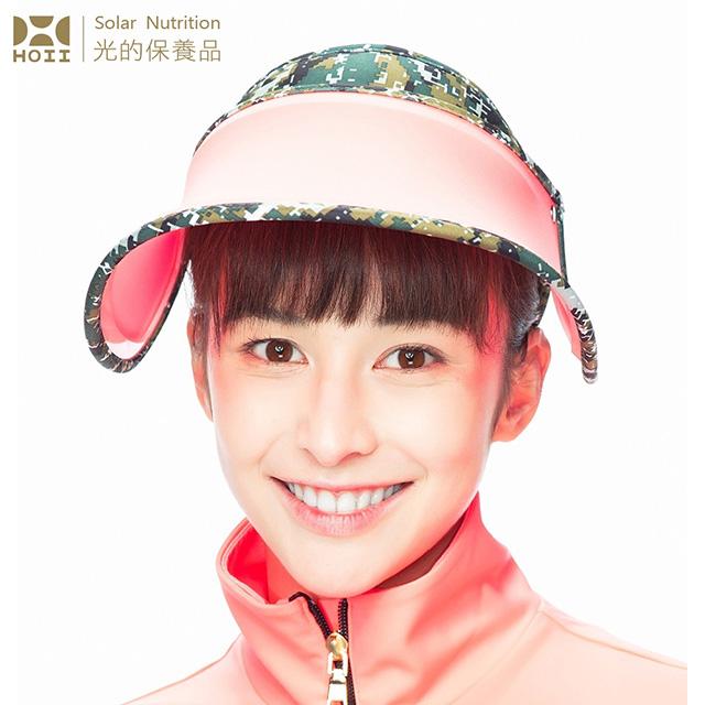 【后益 HOII】馬賽克冰冰帽★紅光-UPF50+抗UV防曬涼感先進光學機能布