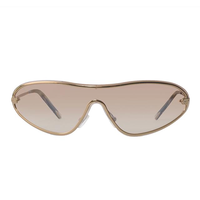 Gianfranco Ferré 義大利 一片式流線型設計太陽眼鏡 / 咖GF57104