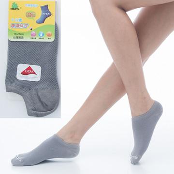 【KEROPPA】可諾帕7~12歲兒童專用吸濕排汗船型襪x灰色3雙(男女適用)C93005