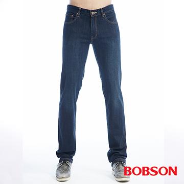 【BOBSON】男款保暖低腰膠原蛋白直筒褲(1793-52)