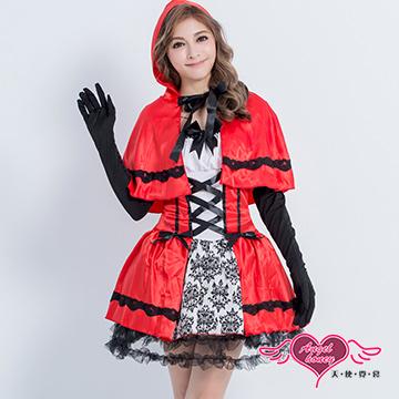 【天使霓裳】童話公主風小紅帽角色服 (紅黑)