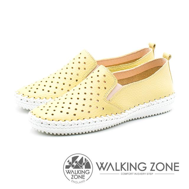 WALKING ZONE 透氣洞洞 樂福懶人便鞋 女鞋 檸檬黃 A55-912203-51