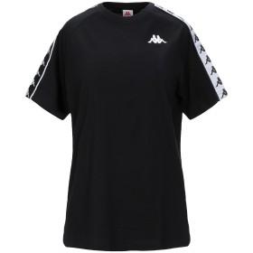 《セール開催中》KAPPA レディース T シャツ ブラック S コットン 100%