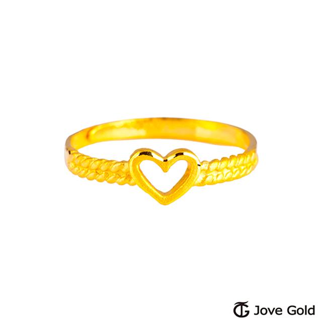 Jove gold 漾金飾 關於愛黃金戒指
