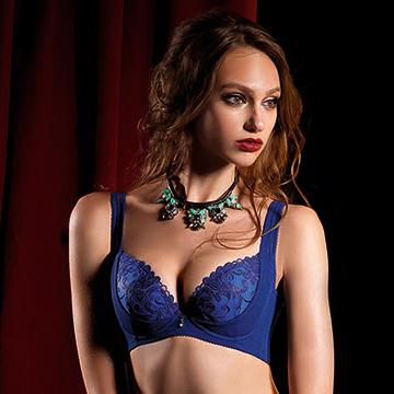 【LADY】燦亮星影系列 機能調整型 G罩內衣(光影藍)
