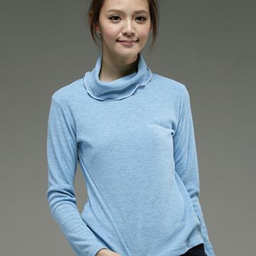 【EverSmile】中空紗荷葉領保暖長袖衣(12色)