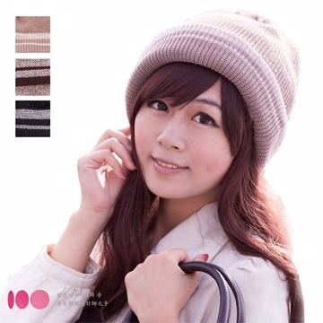 【One Mall】MIT台灣製 發熱雙層內裡 反摺扁帽針織帽 (三色可選)