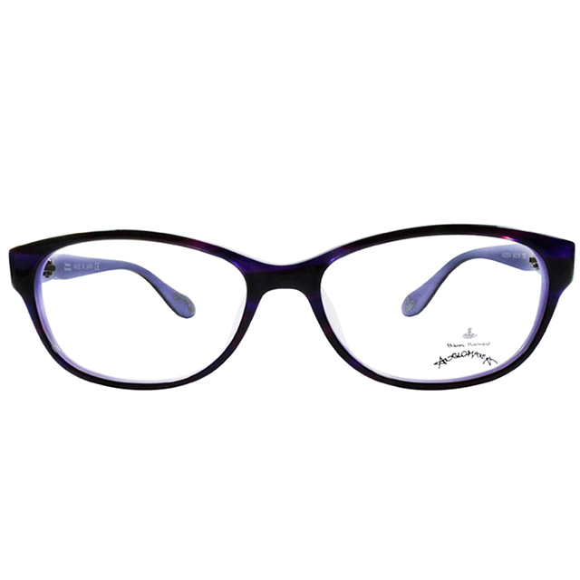 【Vivienne Westwood】英國Anglomania●休閒圓框光學眼鏡(紫)AN29004