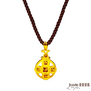 J'code真愛密碼  珍情福祿黃金珍珠墜子