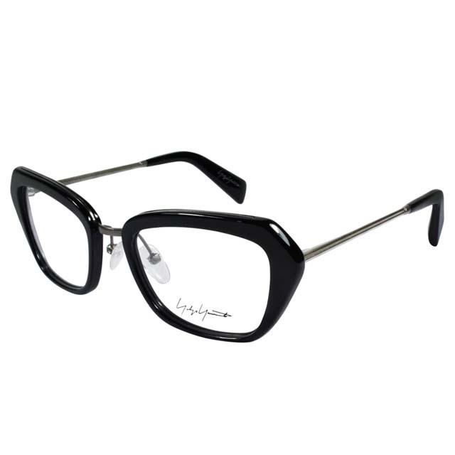 Yohji Yamamoto 山本耀司 金屬混搭多邊矩形框光學眼鏡【黑/槍色】YY1005-019