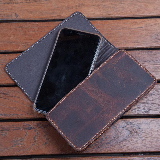 【H-CT】純手工瘋馬皮通用手機腰包(HM1196)