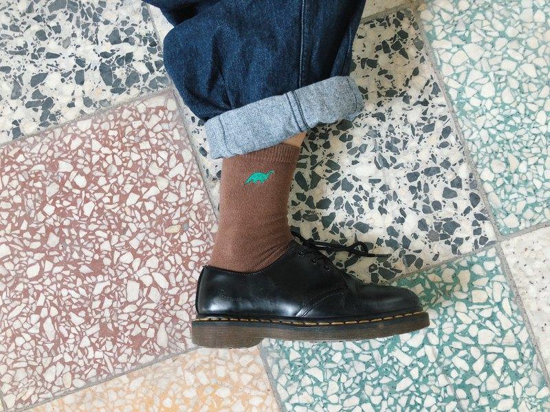 刺繡襪子 / 恐龍 兩色