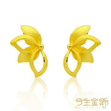 今生金飾 蓮語 純黃金耳環