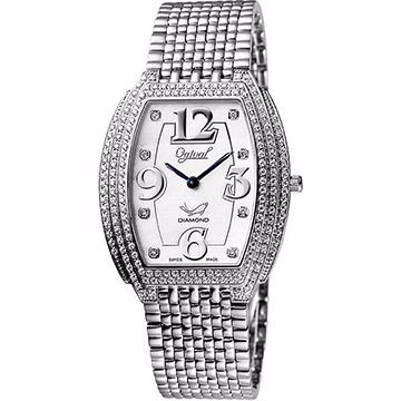 Ogival 晶華系列真鑽珠寶腕錶-銀 3872DMW