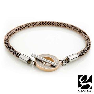 MASSA-G Titan 玫瑰魅力 4mm 超合金鍺鈦腳環