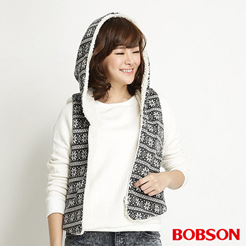 【BOBSON】女款雪花雙面穿背心(31115-83)