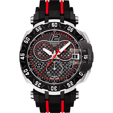 TISSOT 天梭 T-Race MotoGP 2016 限量賽車計時腕錶 黑 45mm T0924172720700