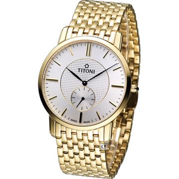 TQ52917G-380 瑞士梅花錶 TITONI Slenderline 優雅情人時尚紳士錶