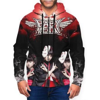 ジョイスウォール Babymetal マスク ベビーメタル パーカー メンズ スウェット ジャケット スタイル カジュアルジップパーカー フード付き長袖 おしゃれ