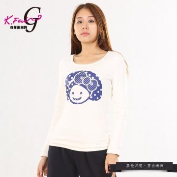 KFAIR·GIRL奇菲爾潮牌時尚百搭卡通LOGOT恤W007340863(白色)