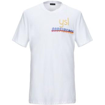 《セール開催中》YES LONDON メンズ T シャツ ホワイト S コットン 100%
