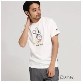 【ベース ステーション/BASE STATION】 【WEB限定】 DISNEY ディズニー Tシャツ ラインアート 半袖Tシャツ (ミッキーマウス)