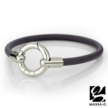 DECO X MASSA-G Glamour魅力經典鍺鈦能量腳環 銀