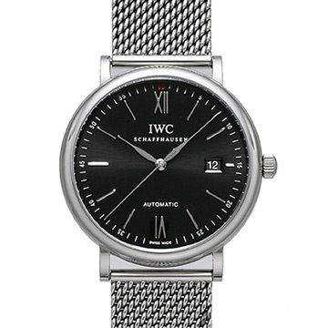 IWC Portofino IW356506 柏濤菲諾自動黑面米蘭帶款-40mm