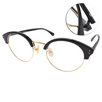 NINE ACCORD 眼鏡 復古眉框 黑 金 LENTOP YURI C01