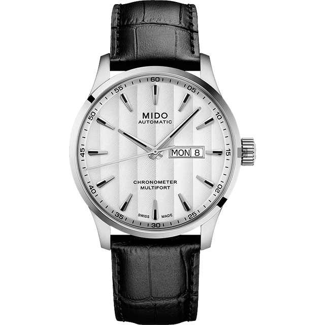 MIDO 美度 MULTIFORT先鋒80系列 天文台腕錶 銀42mm M0384311603100