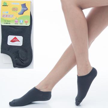 【KEROPPA】可諾帕6~9歲兒童專用吸濕排汗船型襪x深綠色3雙(男女適用)C93005