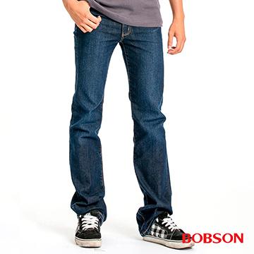 【BOBSON】男款中腰彈性直筒褲(1776-53)