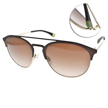 EMPORIO ARMANI太陽眼鏡 率性時尚經典(棕金) #EA2052 318213