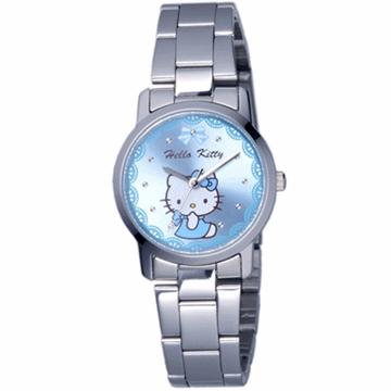 【HELLO KITTY】凱蒂貓可愛滿分俏麗手錶 (藍 LK680LWNI)