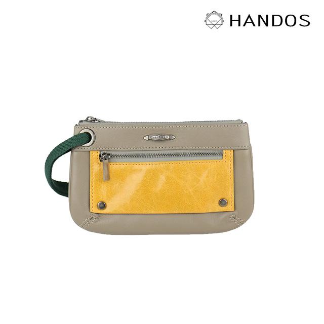 HANDOS|Bracelet 浪漫輕便手拿包 - 灰X黃