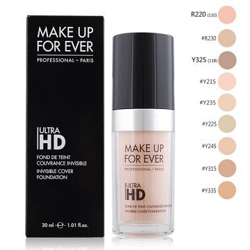 MAKE UP FOR EVER ULTRA HD超進化無瑕粉底液(30ml)-百貨公司貨-多色可選