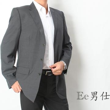 【Ee男仕】V領雙口袋隱直紋西裝外套(灰)
