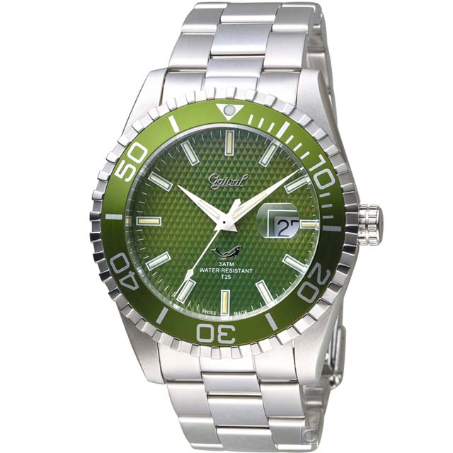 Ogival 愛其華 夜鷹氚氣燈管潛水錶(3985TGSG)綠水鬼/43mm