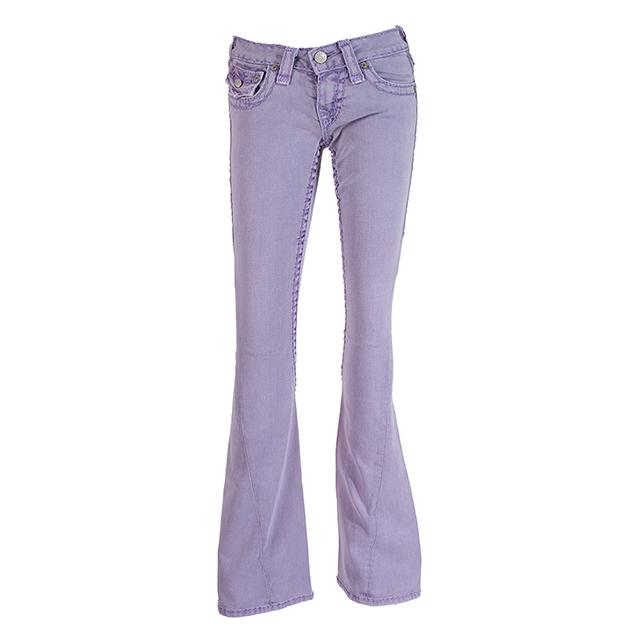 【美國True Religion】Joey Super T 喇叭牛仔褲-PX紫