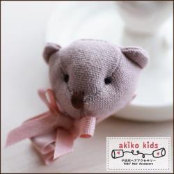 【akiko kids】棉麻卡通動物造型兒童髮夾