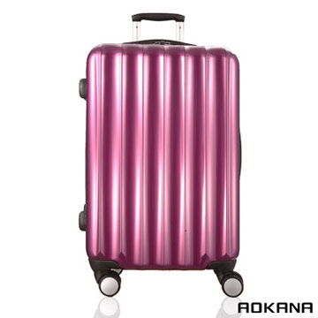 AOKANA奧卡納 26吋 輕量TSA拉鍊硬殼旅行箱 飛機煞車輪(淺紫)99-036B