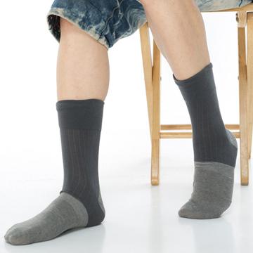 【KEROPPA】萊卡竹炭無痕寬口1/2短襪*2雙(男襪)C90003-深灰