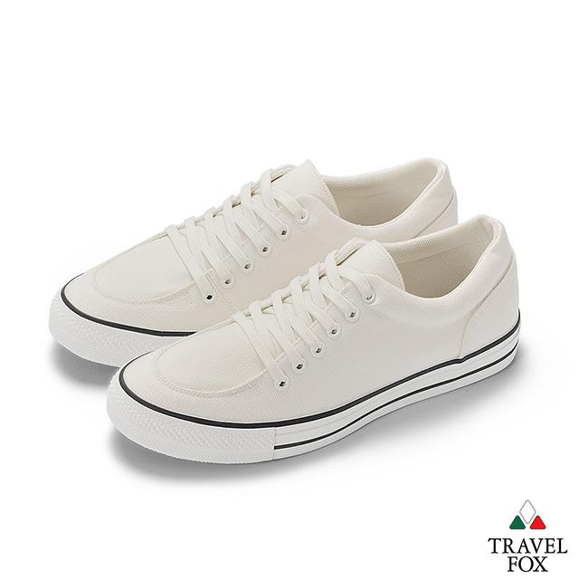TRAVEL FOX Classic 900 Low 男 低筒帆布休閒鞋 - 白