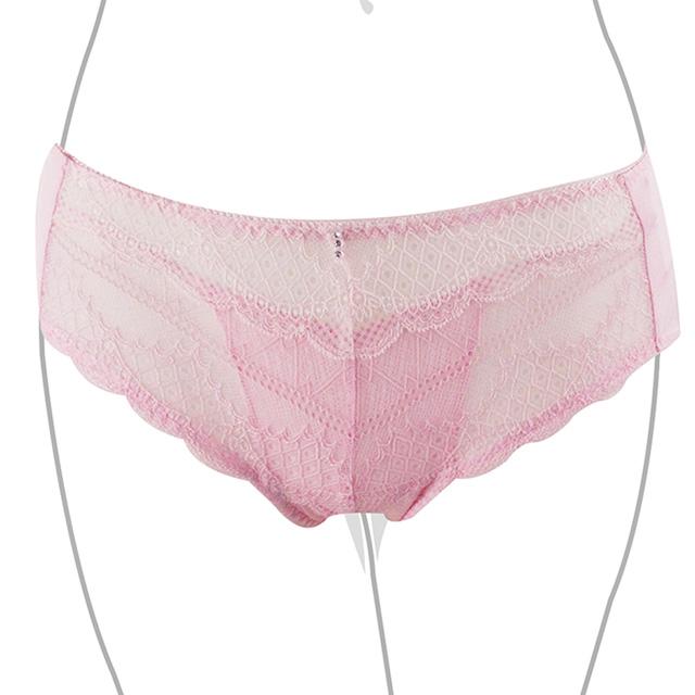 【EASY SHOP】香榭花都璀璨 中低腰平口褲(粉玫瑰)