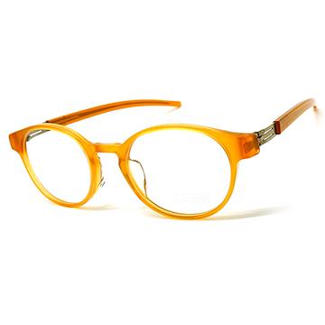 【ic! berlin】德國薄鋼光學眼鏡鏡框 Christina H. East bronze 無螺絲專利設計 50mm