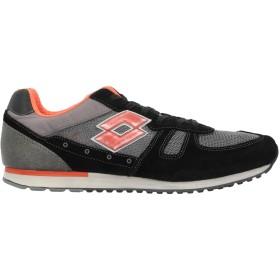 《セール開催中》LOTTO メンズ スニーカー&テニスシューズ(ローカット) ブラック 45 紡績繊維 / 革