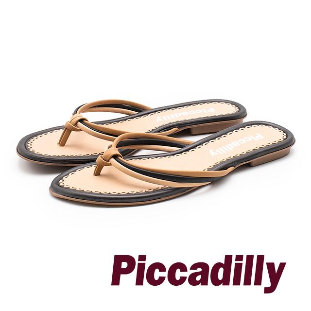 Piccadilly 豔夏假期 三色帶夾腳拖鞋 女鞋 - 黑(另有綠、橘)