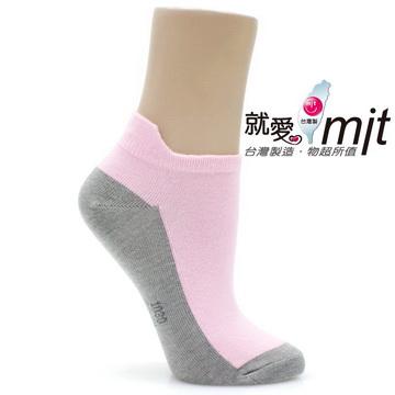 【CHAFER雪夫除臭襪】-造型船襪-粉色灰底