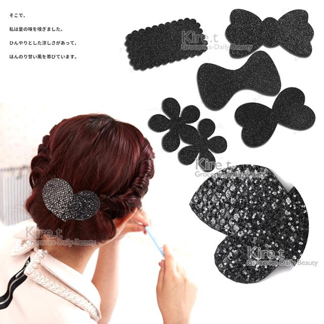 韓國 時尚黑亮片髮貼 極簡閃耀瀏海貼-超值3入 kiret